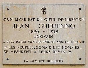 Jean Guéhenno - Image: Jean Guehenno plaque 35 37 rue Pierre Nicole, Paris 5