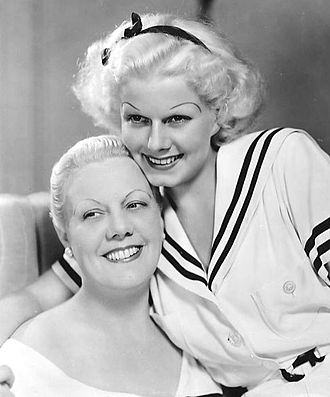 Jean Harlow - Mother Jean and Baby Jean in 1934