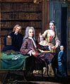 Jean Misaubin and his family. Gouache painting by Joseph Gou Wellcome L0017402.jpg