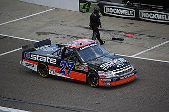 Jeb Burton - Burton's 2012 truck at Rockingham Speedway