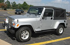 7ad9b93d TJ Wrangler Unlimited, a plus 10 inch (25.4 cm) LWB soft-top, as of 2004