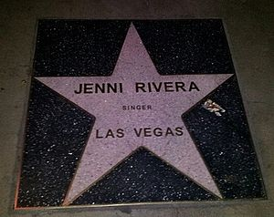 Jenni Rivera - Rivera's star on the Las Vegas Walk of Stars