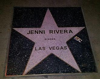 Jenni Rivera - Rivera's star on the Las Vegas Walk of Stars