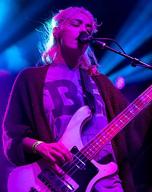 Jenny Lee Lindberg - Lindberg performing at Utopiafest in Utopia, Texas, United States in September 2014