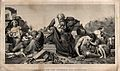Jeremiah sits amidst the rubble of Jerusalem, after its sieg Wellcome V0034401.jpg