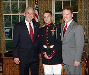 Jim Webb with son Jimmy and George W. Bush 2008