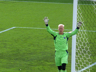 Jimmy Nielsen - Jimmy Nielsen, goalkeeper of Sporting Kansas City, during a match against the Vancouver Whitecaps in April 2011.
