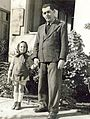 Joel Walbe with his daughter Ayala near Chava Werba's kindergarten in Ben Yehuda Street in Tel Aviv in 1940.jpg