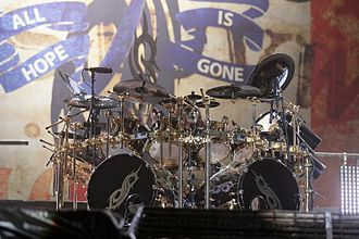 Nova Rock Festival - Slipknot drummer Joey Jordison performing at Nova Rock in 2009.