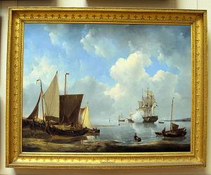 Johannes Christiaan Schotel - Calm sea, 1829, collection Teylers Museum
