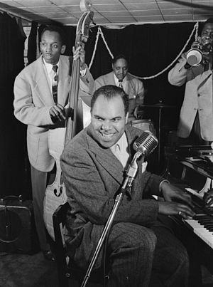 Phil Moore (jazz musician) - Phil Moore and John O. Levy, c. 1947