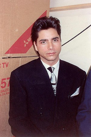 Stamos backstage at the Emmy Awards, 1990