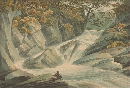 John Warwick Smith - Hafod- Upper Part of Cascade - Google Art Project