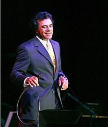 Mathis in concert at the Chumash Casino Resort in Santa Ynez, California in 2006