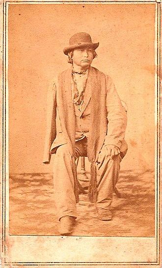 Joseph James and Joseph James Jr. - Joseph James Jr. in 1867, photo by Indian Agent Hiram Warner Farnsworth