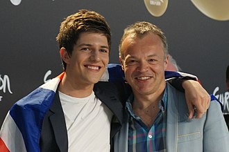Graham Norton - Norton with Josh Dubovie at the Eurovision Song Contest 2010