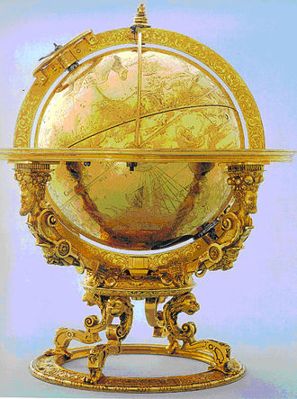 Jost Bürgi - Mechanised Celestial Globe, made 1594 in Kassel, now at Schweizerisches Landesmuseum in Zurich