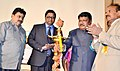 Jual Oram lighting the lamp to inaugurate the National Seminar on 'Law relating to Tribes in India', organised by the University College of Law, at Osmania University, in Hyderabad on January 18, 2016.jpg