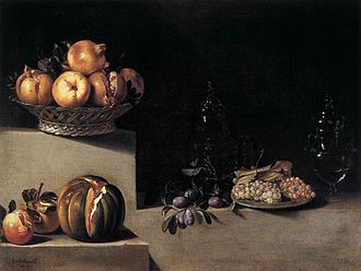 Juan van der Hamen - Still life with fruits and glassware, Museum of Fine Arts. Houston