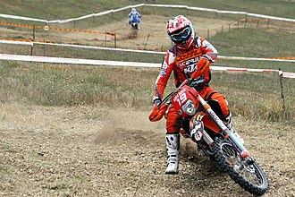 World Enduro Championship - Eight-time class and five-time overall champion Salminen rides his KTM in 2008.