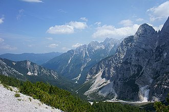 Julian Alps - The Julian Alps seen from the Vršič Pass.