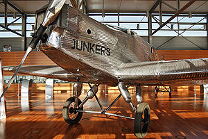 Junkers W 33 - The Transatlantic W 33 on display at Bremen airport