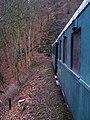 Křivoklát, Křivoklát expres (prosinec 2013), konec vlaku v tunelu (01).jpg