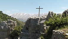 Kadisha Valley cross