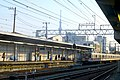 Kanegafuchi station - platform -skytree - march16-2014.jpg