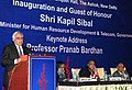 """Kapil Sibal delivering the inaugural address at the """"International Conference on Indian Social Sciences in the Changing World, Roles, Responsibilities and Reforms"""", in New Delhi on February 06, 2012.jpg"""