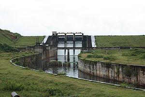 Karapuzha Dam - Upstream face of the dam