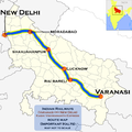 Kashi Viswanath Express (New Delhi - Varanasi) route map.png