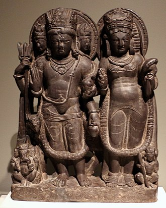 Kashmir Shaivism - Shiva and Parvati (which is associated with Shakti), Kashmir, 10 or 11th century.