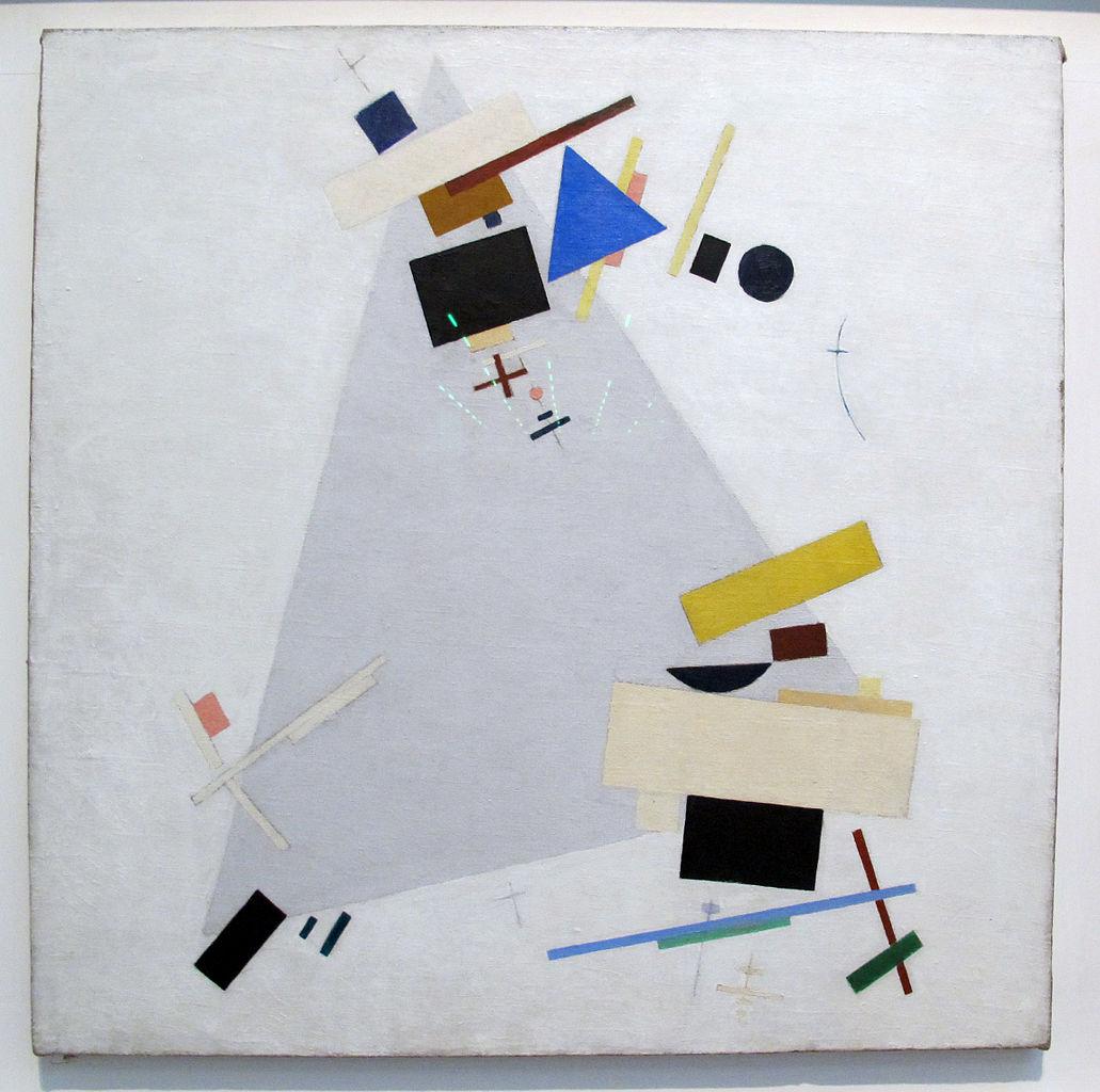 Suprematisme dynamique de Kasimir Malevich (1915).