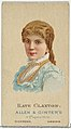 Kate Claxton, from World's Beauties, Series 2 (N27) for Allen & Ginter Cigarettes MET DP838193.jpg