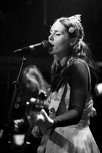 Kate Nash - Nash performing live in Bitterzoet, Amsterdam, 2012.