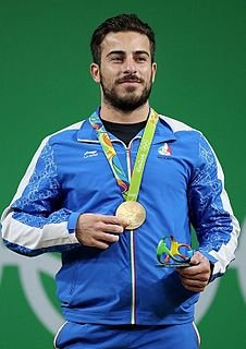 Kianoush Rostami Iranian weightlifter