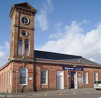 Glasgow South Western Line - Image: Kilmarnock Rail Way Tower