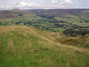 The plateau of Kinder Scout, seen from the sou...