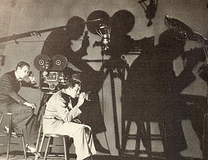 Edward Cronjager - Edward Cronjager working with director, King Vidor, on the 1932 film Bird of Paradise