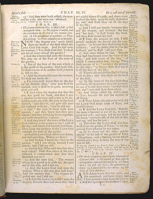 King James Bible 1772 - Genesis 3