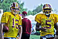 Kirk Cousins and Pat White, Redskins training camp 2013.jpg