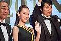 "Kitagawa Keiko, Matsuyama Kenichi & Denden ""Something Like Something Like It"" at Opening Ceremony of the 28th Tokyo International Film Festival (22404187686).jpg"