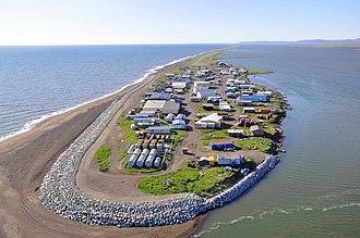 Kivalina, Alaska - Aerial view of Kivalina