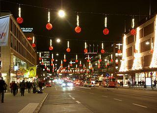 en gata i centrala Stockholm