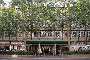 Kleinmarkthalle Frankfurt Ostfassade