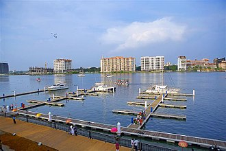 Marina - Kochi Marina in Kochi, India is the only marina in the country