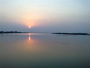 Krishna River - Krishna river near Vijayawada