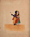 Krishna and Radha. Gouache drawing. Wellcome V0044959.jpg