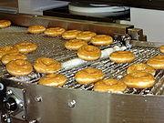 Krispy Kreme的炸面圈正在作出的一间餐厅在悉尼,澳大利亚